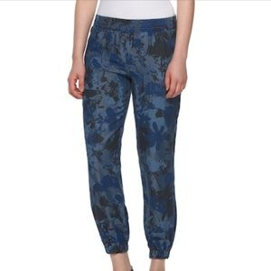 Juicy Couture Chambray Floral Camo Jogger Pant